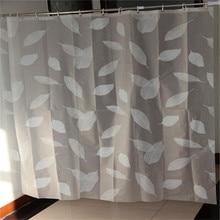 New Arrivel brève mode écologique EVA blanc feuilles imperméables rideau de douche accueil salle de bains rideaux