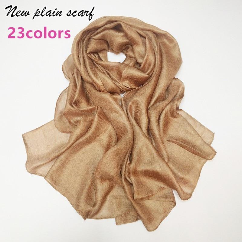 Luxury Women plain scarf scarves fashion silklike cosy muslim head scarfs hijab big size echarpe wraps