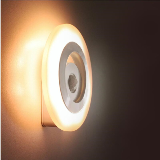 Human Body Sensor Nordic Night Lamp Modern Led Stair Wall Lamp Bedroom  Mirror Home Bathroom Light
