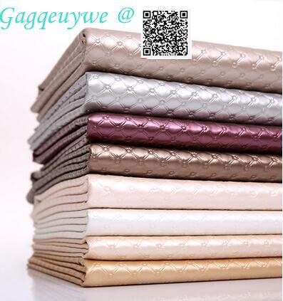 1 pièces Gagqe cuir souple tissu dur sac fond mur porte coulissante imitation cuir canapé tissu cuir artificiel
