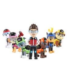 7Pcs Paw Patrol Dog Puppy Patrol Car Patrulla Canina Action Figure Original Pelucia Anime Toys For Kids children Gift