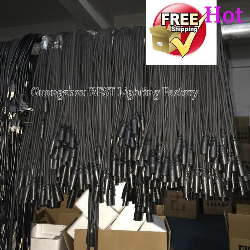 20pcs/lot 100 meters dmx cables 5mx20pcs dmx power cable for show light stage lighting