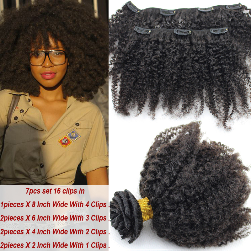 Afro kinky curly clip in human hair extensions virgin brazilian afro kinky curly clip in human hair extensions virgin brazilian clip hair extensions for black women curly clip on hair pieces on aliexpress alibaba pmusecretfo Images