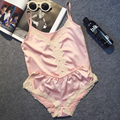 Marca de Fábrica grande de Lujo de Imitación de Satén de Las Mujeres Conjunto de Pijama Corto de Encaje Sexy Traje de Pijama de Seda Fina Caliente Mujeres Night Wear Ropa