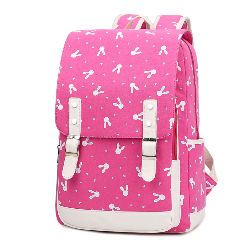 New Lovely fashion Kids Women Bunny Backpack School Bags for Teenage Girls Travel Rucksack Double Shoulder Bags Mochila Children 2015 new lovely baby character school bags children my melody design backpack girls toy mini cute bags kids gift