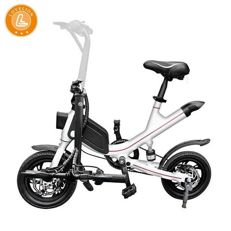 Lovelion china adulto portátil dobrável mini bicicleta elétrica condução conveniente pequena-escala feminino ebike preto bateria bicicletas
