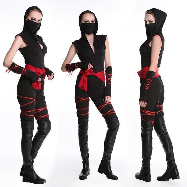 halloween sexy dames femme ninja costume cosplay de