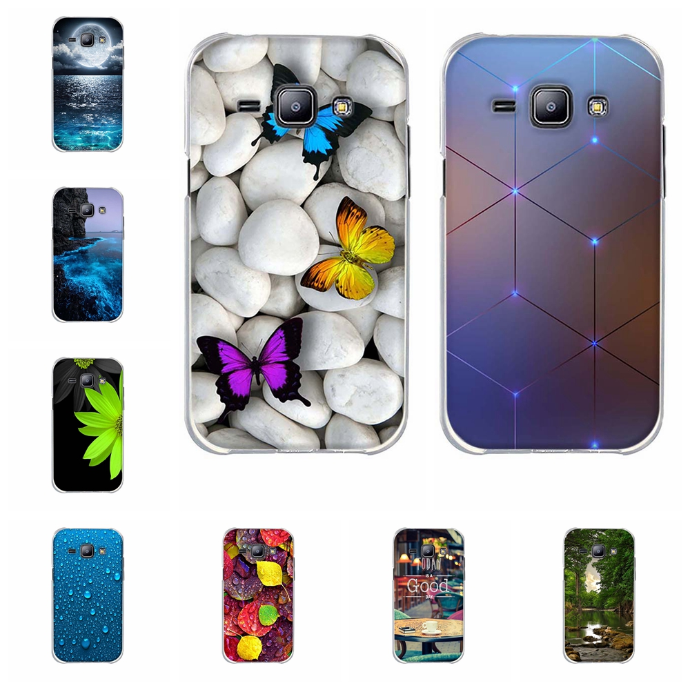 For Samsung Galaxy J1 Case TPU For Samsung Galaxy J1 J100F J100FN <font><b>J100H</b></font> J100M J100MU Cover Leaves Patterned For Samsung J1 Funda image