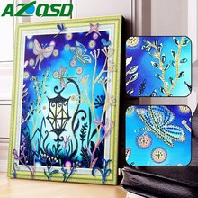 AZQSD Diamond Painting Cartoon Picture Of Rhinestones Special Shaped Embroidery Butterfly Decoration Home Gift
