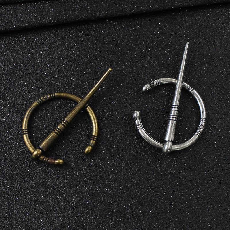 Viking Gaya Bajak Laut Kuno Perak Perunggu Serpentine Bros Vintage Nordic Broch Simbol Pria Wanita Jubah Pin Bajak Laut Perhiasan