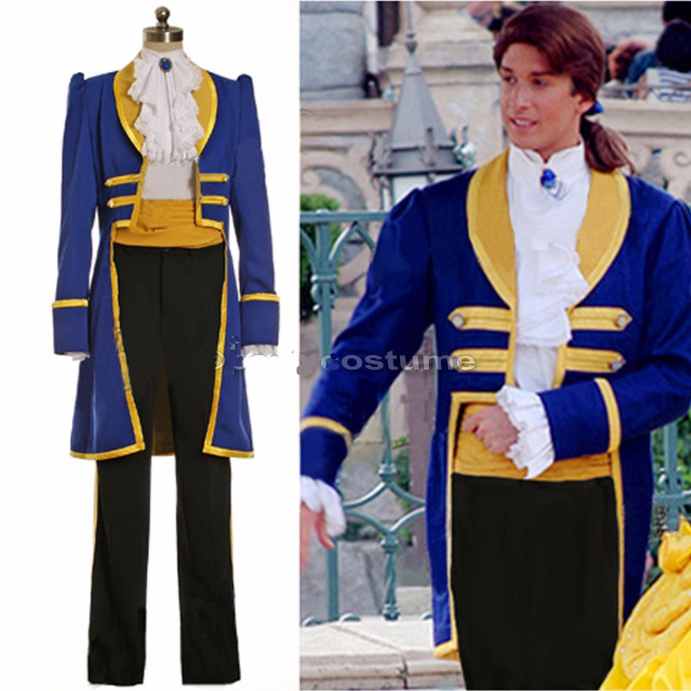 Free shipping Beauty and the Beast Adult Costumes Prince Adam Cosplay costume halloween cosplay