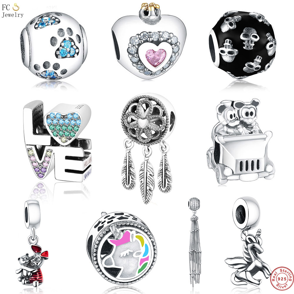 Iinbeaut 100% 925 Sterling Silver Colorful Childhood Memory Pink Swing Trojan Horse Charm Beads Fit Original Bracelet Children Beads & Jewelry Making