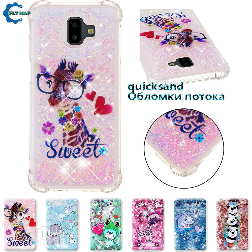 Phone Bags & Cases Dashing Case For Samsung Galaxy J6 Plus Sm J610f J610fn/ds Sm-j610f Sm-j610fn/ds J6plus Glitter Stars Dynamic Liquid Quicksand Tpu Case Easy To Lubricate