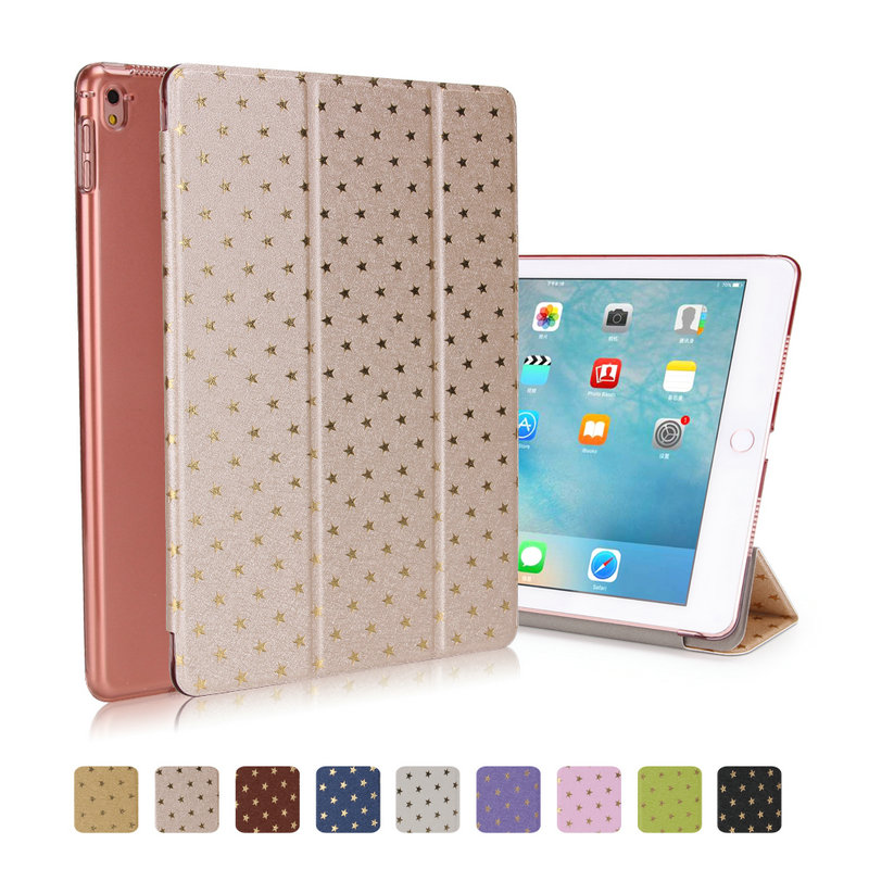 Official Original 1:1 PU Leather Ultra Thin Stand Cover Slim Smart Case for Ipad air 2 Ipad 6 Auto Sleep/Wake Up Stand Star case
