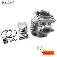 44 мм Cyinder: набор пистонов 12 мм булавки комплект для 49cc 2 тактный двигатель мини moto грязи ATV Quad карманный велосипед мини moto rcycle Запчасти