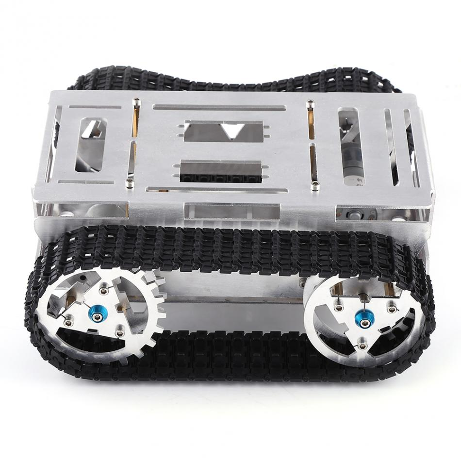 DIY RC Car Toy Metel Model Toy Aluminum Alloy Battle Tank Set with Track Assembly Upgrade Model Car Building Toy Model Kits 240pcs racing track diy assembly set toy rollercoaster vehicle car toys miraculous race track bend flash track xmas kids gifts
