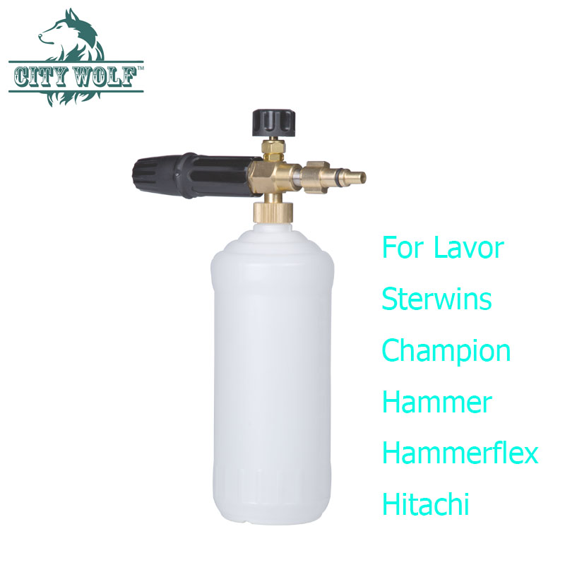 City Wolf car washer foam cannon snow foam lance soap bottle foam nozzle for Lavor Sterwins Huter high pressure washer