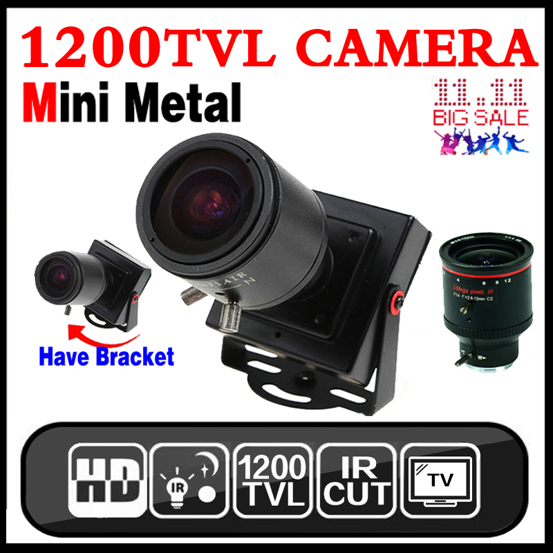 New Product Mini Manual focusing 2.8m-12mm 1200TVL Djustable Lens Color Video HD CCTV Security Surveillance Zoom Camera Metal new micro cone 3 7mm lens hd 1 4cmos 1200tvl small color analog video cctv security mini camera surveillance metal have bracket