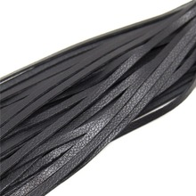 Leather Black Horse Riding Whip For Flogger Queen