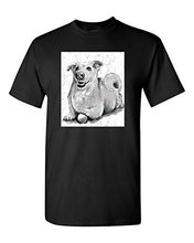 2017 Fashion Hot Sell 100% Cotton O-Neck T Shirt Printed Tee Shirt Design l Men's O-Neck Cute Puppy Dog Lover Animal Tee