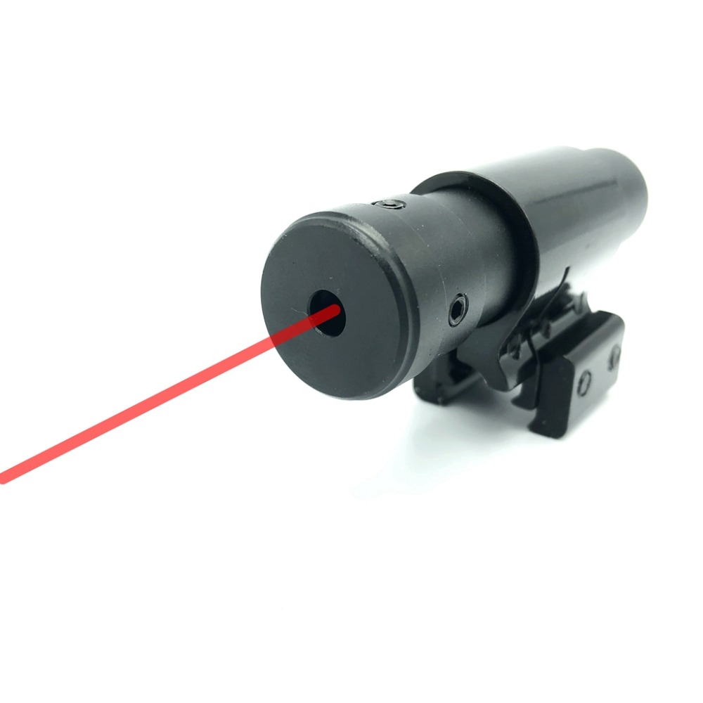 Red Dot Laser Sight Pistol 50-100M Range 635-655nm Adjustable 11mm 20mm Picatinny Rail Hunting Accessory