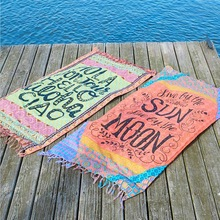 Beach Blanket summer swimming square beachwear pool yoga mat Camping Mattress tapestry Cover-Ups
