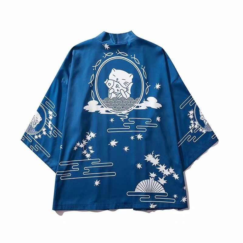 יפני קימונו גברים קרדיגן חולצה חולצה יאקאטה גברים haori אובי בגדי סמוראי בגדי זכר קימונו קרדיגן