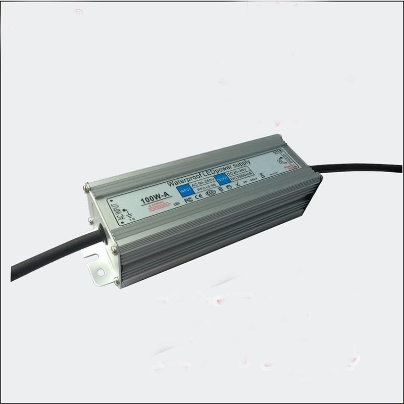 100w waterproof Led Driver AC 85V-265V Output 30V-36V DC For 100W High Power Led Light lamp for led flood light,led high bay 18w power driver for led light bulb ac 85 265v