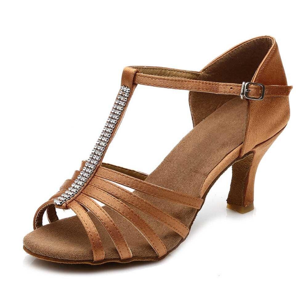 5c9a15e465a7c Nouvelle marque Satin femmes de filles salle de bal tango chaussures ...