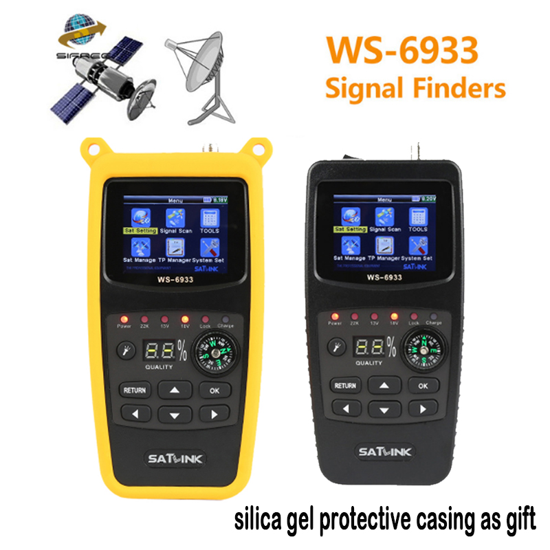 DVB-S2 Satlink WS-6933 satfinder satellite finder satlink WS6933 2.1 Inch LCD Display DVB-S FTA C&KU BandMeter PK V8 FINDER аккумулятор ac robin ак 00000756 li ion 1050мaч для экшн камер zed2