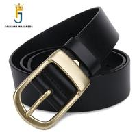 Good Quality Men S Luxury Fashion Pure Genuine Leather Men Brass Clasp Buckle Belts For Men