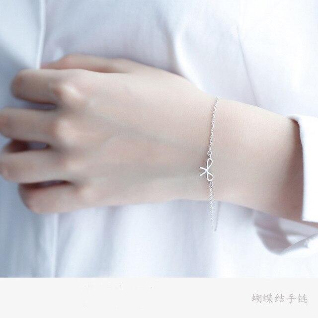 Silver Bow Tie Bracelet Bow...