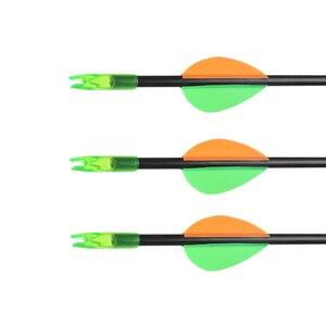 Image 3 - Детская стрела присоска Huntingdoor, 6/12 шт., 60 см, диаметр 6 мм, безопасная стрела с ноками, уличная детская стрела лук, оборудование, игрушка