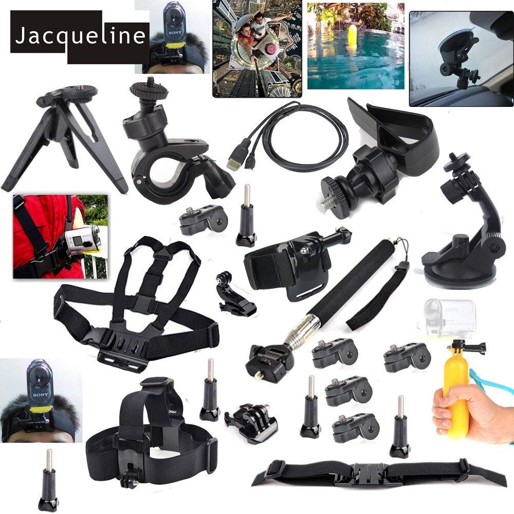 Jacqueline para montaje Kit de accesorios para Sony acción CAM HDR-AS15 AS20 AS30V AS200V AS100V AS200V FDR-X100V/ w 4 K acción
