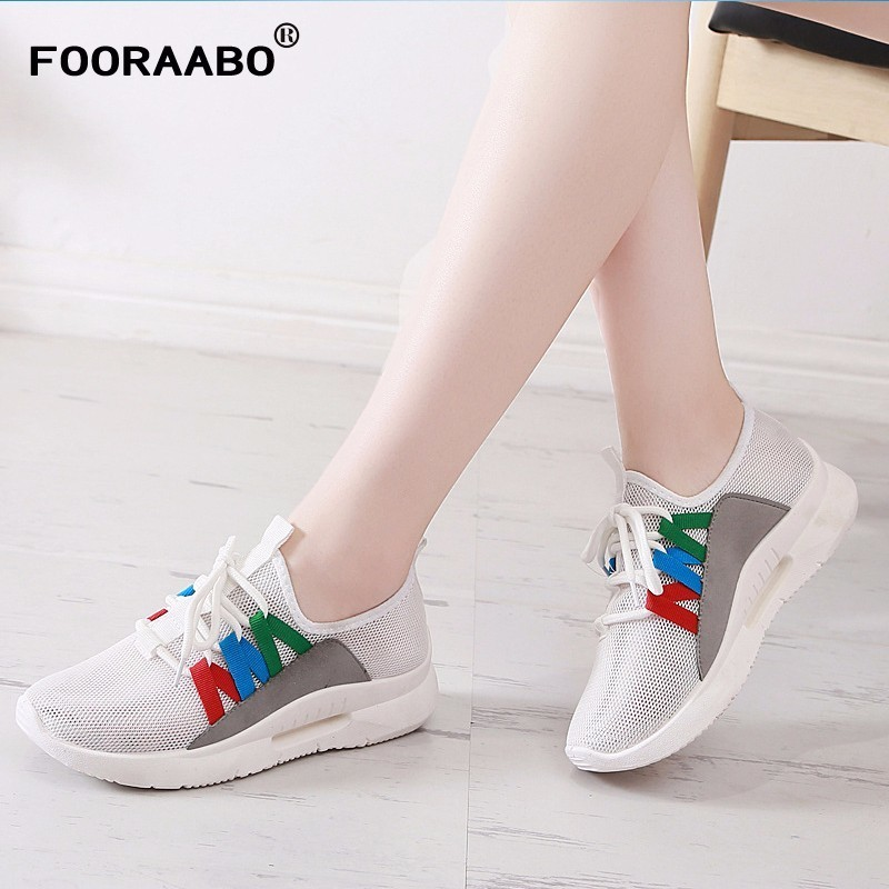 Women Sneakers Light Weight 2018 Summer Woman Casual Shoes Flats Slip On Female Ladies Shoes Comfortable Breathable Net Shoes forudesigns musical note women sneakers flats fashion girls casual beach light loafers female summer slip on shoes woman walking