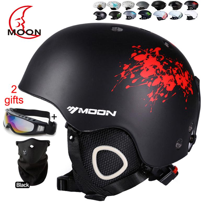 ФОТО MOON Hot Sale Ski Helmet Integrally-molded Skiing Helmet For Adult and Kids Safety Skateboard/Ski Snowboard Helmet