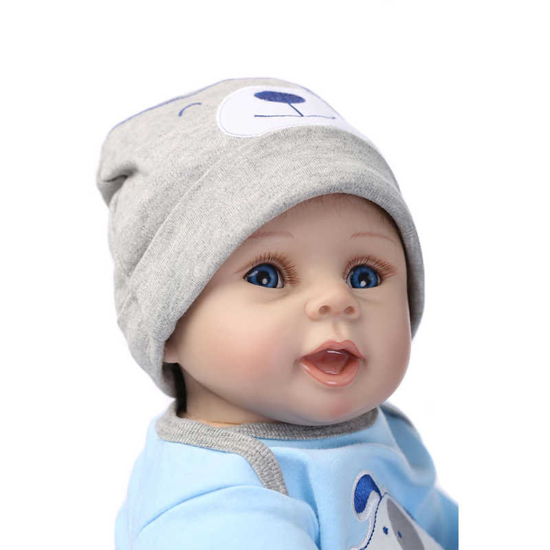NPK 22inch 55cm Siliconen Reborn Poppen Levensechte Baby Pop Jongens Pasgeboren Mode Pop Kerst Cadeau Nieuwe Jaar Cadeau