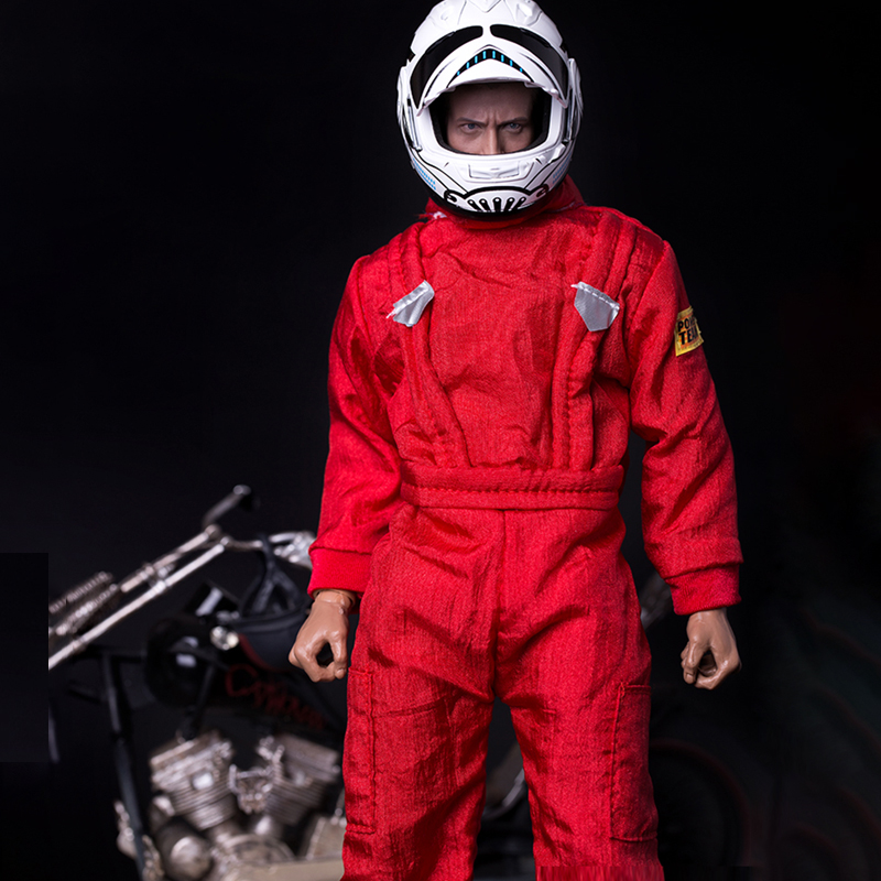 1/6 Scale Accessories Clothing Red Coverall Locomotive Jumpsuit Clothes/Coat Long Sleeve F 12 Inch Male/Female Doll Actionfigure