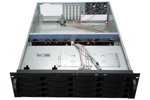 YT3316A 16 disk hot plug 3U server case industrial control case monitor storage case