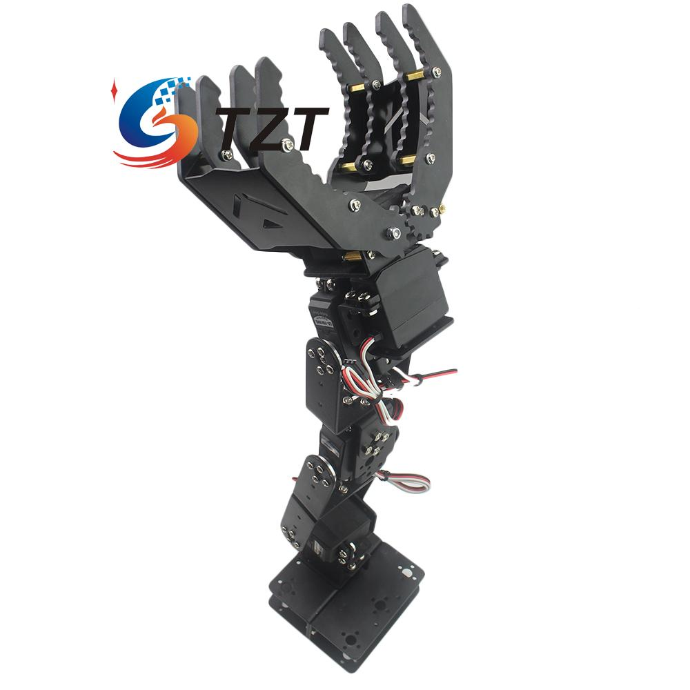 6DOF Mechanical Robot Arm Hand Clamp Claw Manipulator Only Frame Kit for Arduino Diy