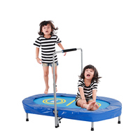 Techsport Trampoline Foldable Spring Trampoline with Handrail for Parent child Game Indoor Entertainment Max. Belastung: 10