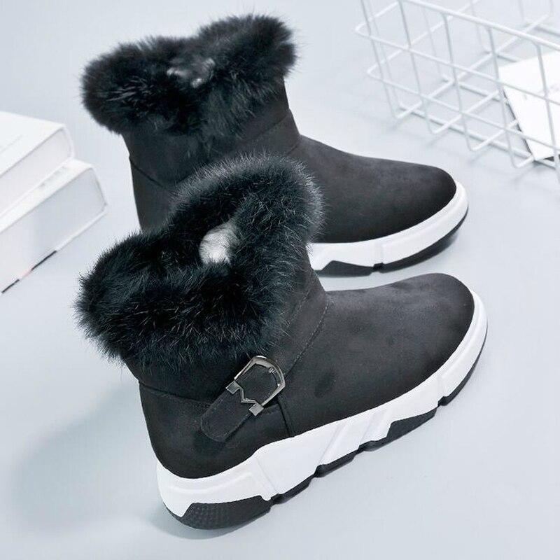 forme Sneakers Neige Flock Chaud 3 2019 W509 Compensées Fourrure De Cheville Au Garder Bottes 1 Plate Chaussures D'hiver Femmes Wedge 2 Nouveau Femme Casual wPqxUYHP