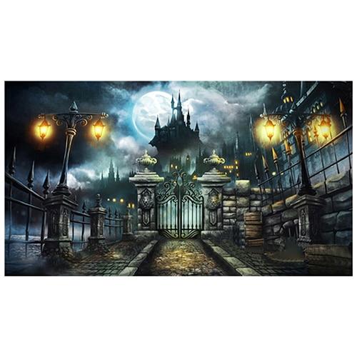 7x5FT Backdrop Background Photo Halloween Castle Vinyl Photography Prop
