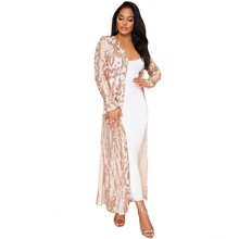 Africa Clothing 2019 New Cloak Of The Coat Riche Bazin African Dress For Women Sexy Sequins Perspective Cardigan Cloak Of Coat