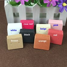 100PCS 3.5*2.5cm Kraft Paper Ear Studs Hang Tag Jewelry Display Card Earring Kraft Paper Tag Ear Ring Paper Hang Price Tags(China)