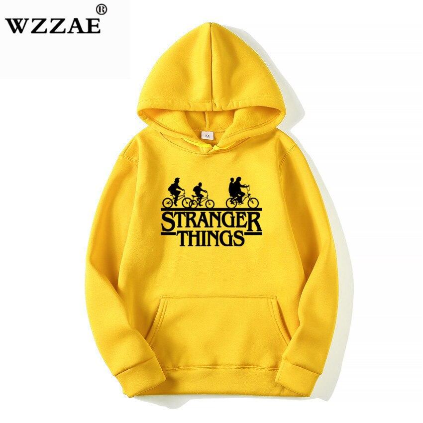 Trendy Faces Stranger Things Hooded Hoodies and Sweatshirts 16