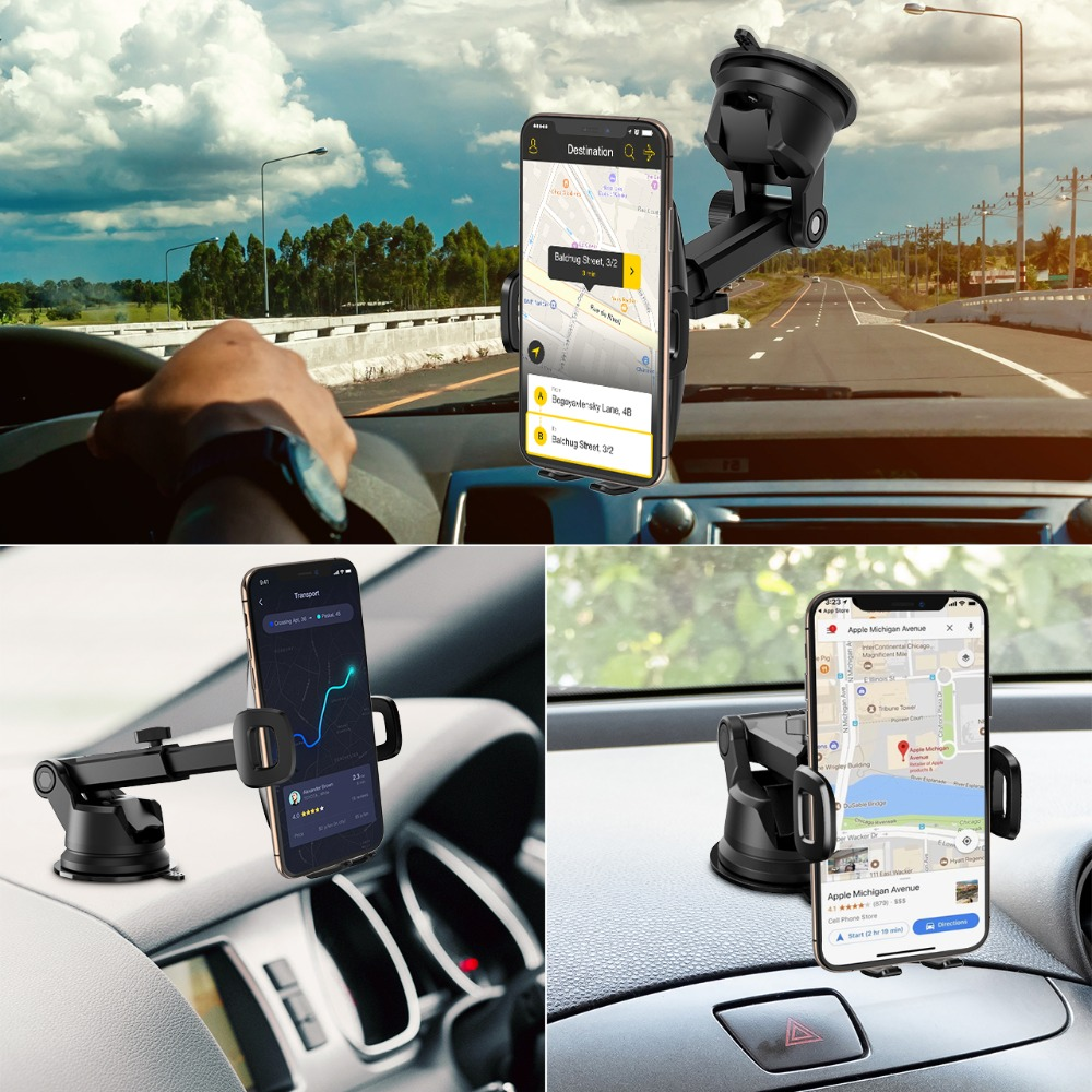 Image 5 - Mpow CA104 Dashboard Car Phone Holder 2 Suction Levels Washable Gel Pad Universal For iPhone Xs Xr 8 Xiaomi 8 Huawei Samsung S9Phone Holders & Stands   -
