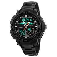 2018 Uomini orologi di marca di lusso cronografo automatico auto racing orologi bussola militare hot man orologio wriat LED luminious chime