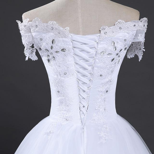 Fansmile High Quality Vintage Lace Long Train Wedding Dresses 2020 Vestido De Noiv Plus Size Bridal Dress Wedding Gowns FSM-151T