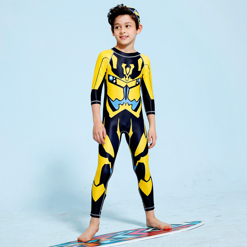 Children's Swimsuit Kids Boy For Baby Clothing Rash Guards Clothes Children Boys Big Long Sleeve Trousers Suits And Girls Animal